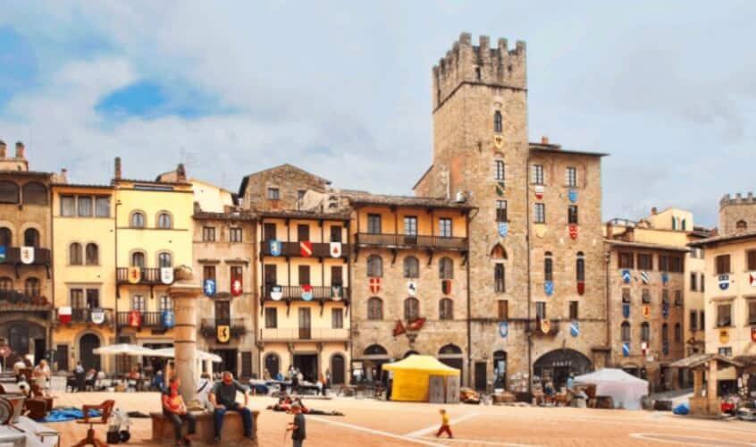 6x eten en slapen in Arezzo, mooie vestingstad in Toscane