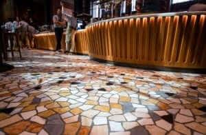 The floor Starbucks