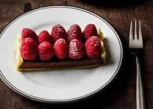 Chocolade frambozen taart