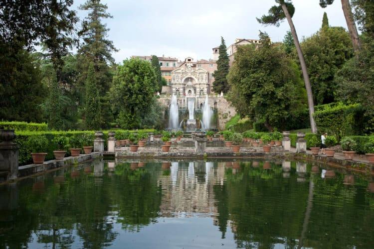 fontana di Nettuno e fontana dell'organo.  Villa d'Este. Tivoli. Rome